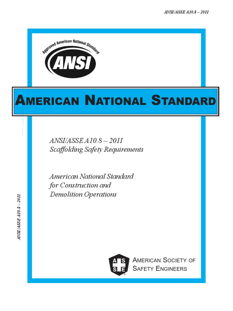 American National Standard for Scaffolds | Scaffolding | Rope