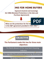 Protections for Home Buyers