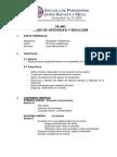 Sílabo de Ortografía y Redacción - Agosto