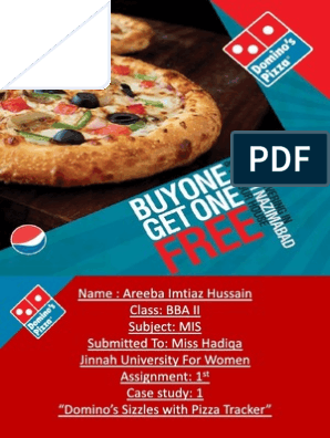 Assignment Case Study Dominos and Confrencing | Domino's