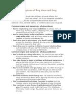 Sign and Symptoms Drug Addiction