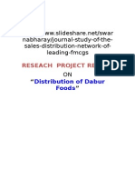 Distribution of Dabur Productsfmcg