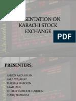 Presentation on Karachi Stock Exchange