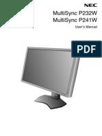 p232w p241w Usermanual Nec