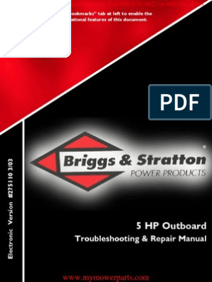 Outboard Repair Manual E-Book_275110 BRIGGS & STRATTON | Carburetor