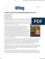 Lessons Learned From Understanding Warehouse Fires