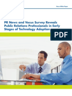 Public Relations Professionals in Early Stages of Technology Adoption