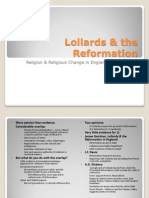 Lollards, the Reformation