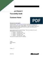 Traceability Audit