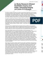 Resume Case Study Research (Robert K. Yin) Dan Qualitative Inquiry and Research Design