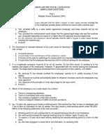 Labor Law - Sample Bar Questions (MCQs & Essay)