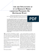 The NATURE and IMPLICATIONS of Support in Graduate Nurse TRansition Programs - An Australian Study
