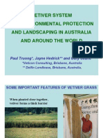 VETIVER SYSTEM FOR ENVIRONMENTAL PROTECTION AND LANDSCAPING IN AUSTRALIA AND AROUND THE WORLD