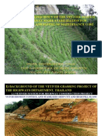 IMPROVING THE EFFICIENCY OF THE VETIVER SYSTEM IN THE HIGHWAY SLOPE STABILIZATION FOR SUSTAINABILITY AND
