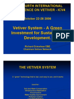 Vetiver System - A Green Investment for Sustainable Development.