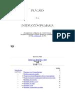Zeballos- Fracaso de La Instrucción Primaria