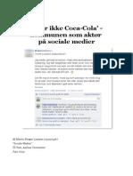 'Vi Er Ikke Coca-Cola' - Kommunen Som Aktør På Sociale Medier