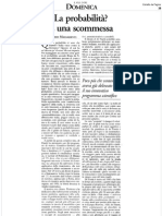 Armando Massarenti - Articolo su Bruno de Finetti su Il Sole 24 Ore (luglio 2006)