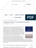 Weighing Publius's Constitutional Morality