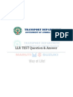 LLR Test EnglishTotalQuestions