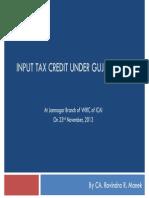 ITC Under GVat 231113