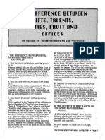 1990 Issue 6 - The Difference Between Gifts, Talents, Duties, Fruit and Offices - Counsel of Chalcedon