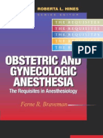 Obstetric and Gynecologic Anesthesia