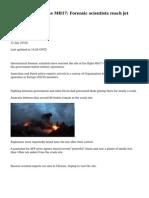 BBC News - Ukraine MH17