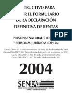 Instructivo Islr Planilla Dpn 25 y Dpj 26