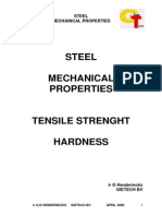 Calculation Tensile and Hardness Steel