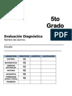 5to Grado - Diagnóstico