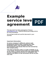 Example Service Level Agreement