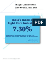 India's Core Eight Industries Production for June 2014