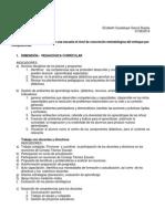 Dimensiones Para Identificar en Una Escuela El Nivel de Concreción Metodológica Del Enfoque Por Competencias
