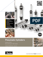 Pneumatic Linear ISO Cylinder - P1A Series - Catalogue PDE2564TCUK