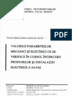 Valorile Parametrilor Electrici Si Mecanici Ce Se Verifica in Cursul Incercarilor