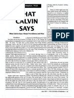 1991 Issue 5 - What Calvin Says About Providence and Man - Counsel of Chalcedon
