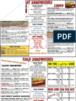 Sandwich C Menu July 2014