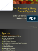 Credit Card Processing Using Oracle IPayments