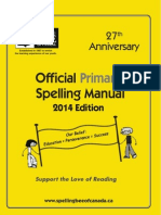 Spelling Bee Manual - Primary 2014