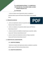 Relación Entre La Hipertensión Arterial y La Diabetes en Pacientes Adultos Mayores Del Policlínico Daniel Alcides Faltaaaaaaaaaa