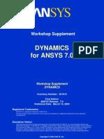Dynamics ANSYS 7.0 Workshops
