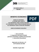 Bando Unico Benefici Econom 1415 Def