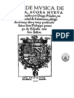 Pisador-Libro de Musica de Vihuela