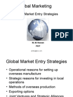 Global MarKET ENTRY STRATEGIES