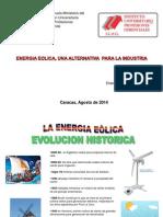 ENERGIA EOLICA, UNA ALTERNATIVA PARA LA INDUSTRIA