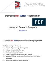 High-rise Design - Hot Water Recirculations and General Pumping Practices