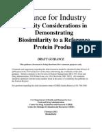 FDA 2012 Biosimilar Quality Consideration