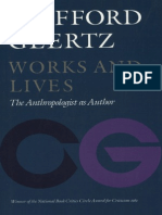 Works and Lives, The Anthropologist as Author, C. Geertz (1988)