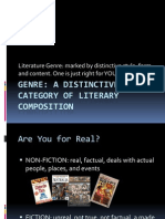literary genres for sixth and seventh grade